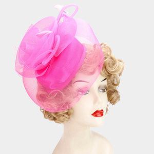 Embellished Mesh Fascinator Hat